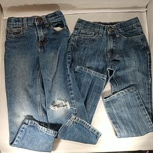 Mongoose/Cat&Jack, two (2) size 5 pair of jeans